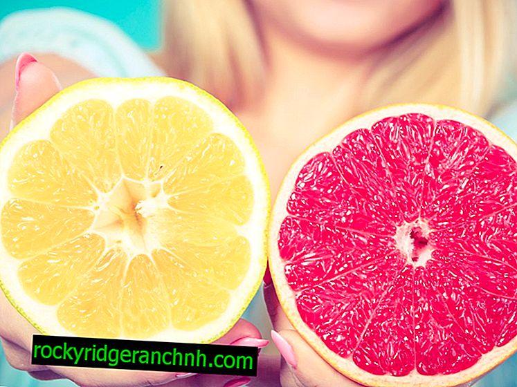 Ползите от бял и червен грейпфрут